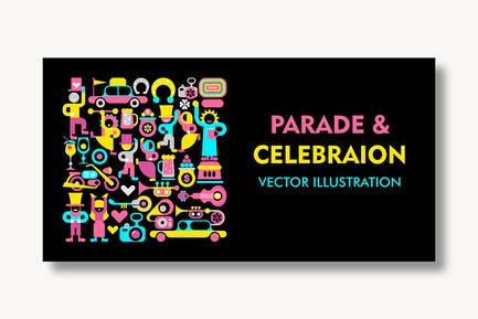 Parade and Celebration vector illustration