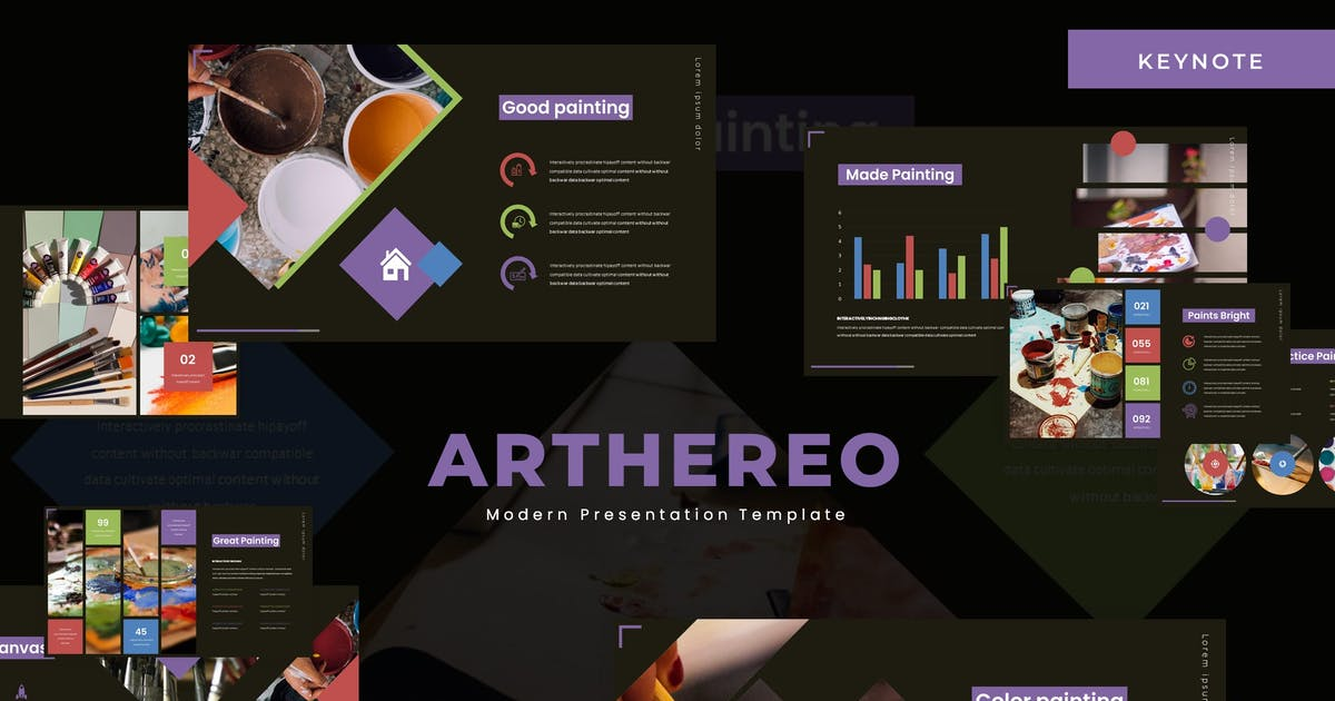Download Arthereo - Keynote Template by karkunstudio