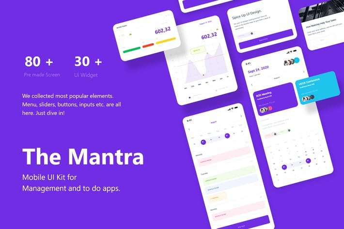 Thumbnail for The Mantra - Mobile UI Kit