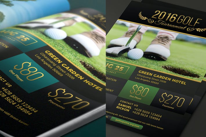Cover Image For Elegant Charity Golf Tournament Flyer