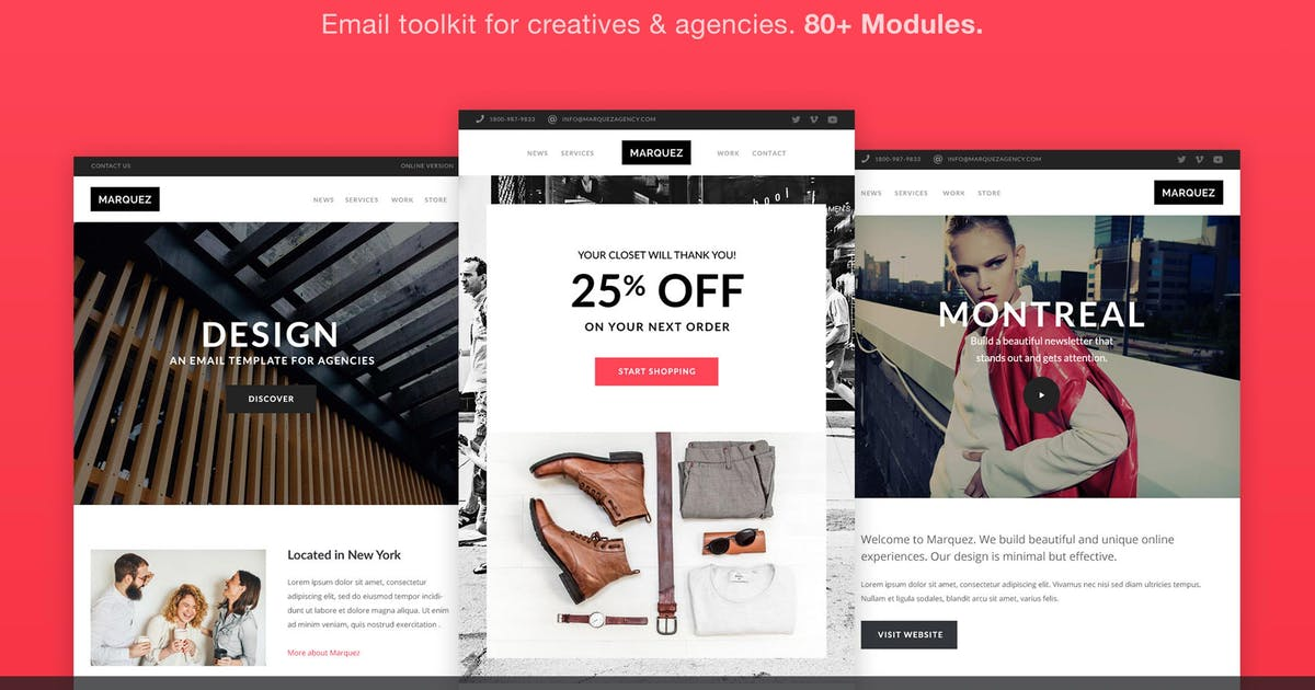 Marquez - Email for Agencies 80+ Sections by ThemeMountain