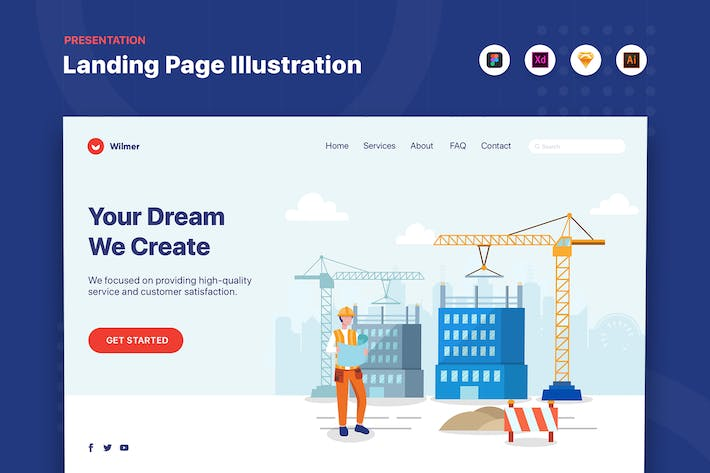 Thumbnail for We Create Your Dream - Web Header Template