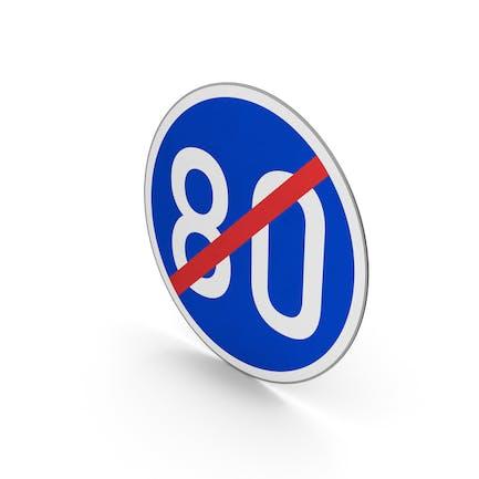 Road Sign End Minimum Speed Limit 80