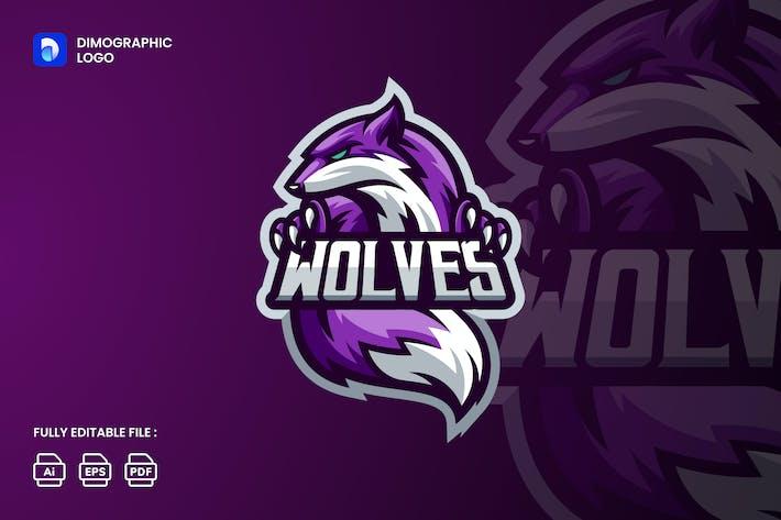 Wolf Logo Esport UZ