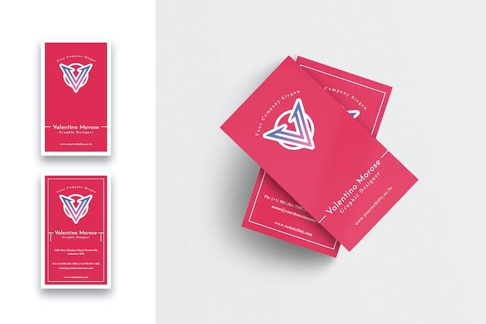 Thumbnail for Designer Creative Business Card-Vertical-02