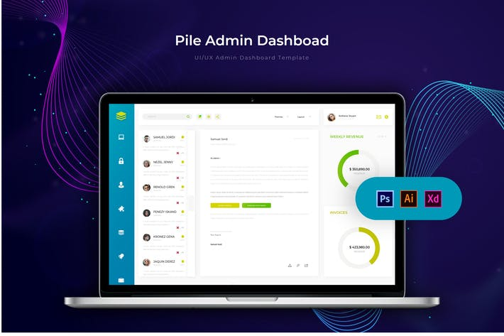 Thumbnail for Pile Dashboard | Admin Template