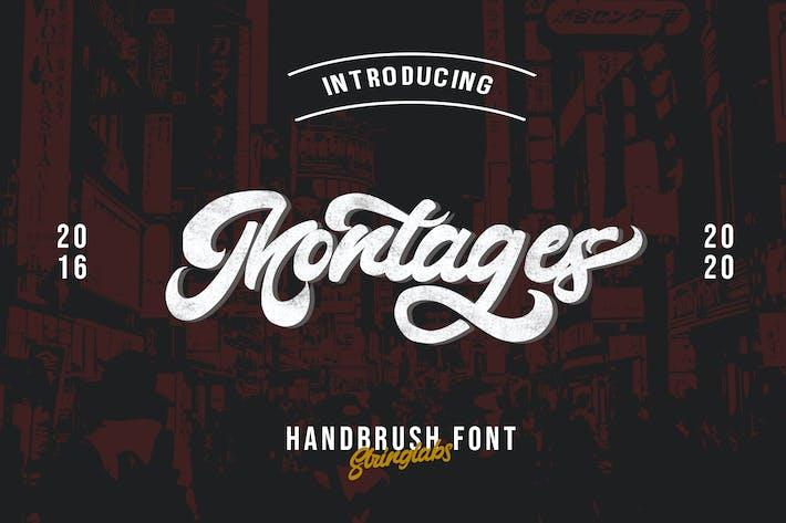Thumbnail for Montages - Retro Bold Script Font