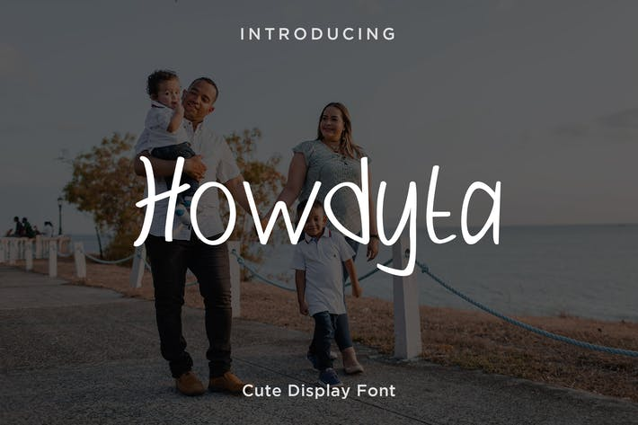 Cover Image For Howdyta - Cute Display Font