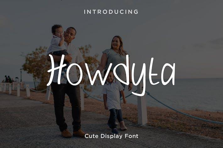 Thumbnail for Howdyta - Niedliche Schriftart