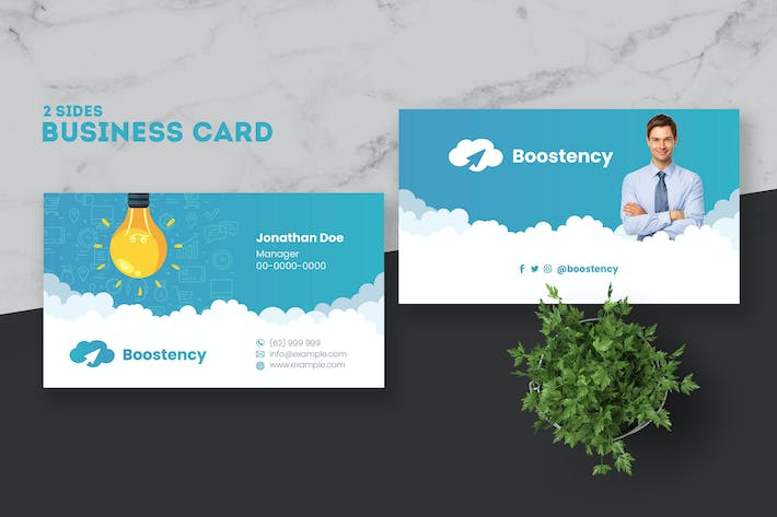 Thumbnail for Content Marketing Agency Business Card