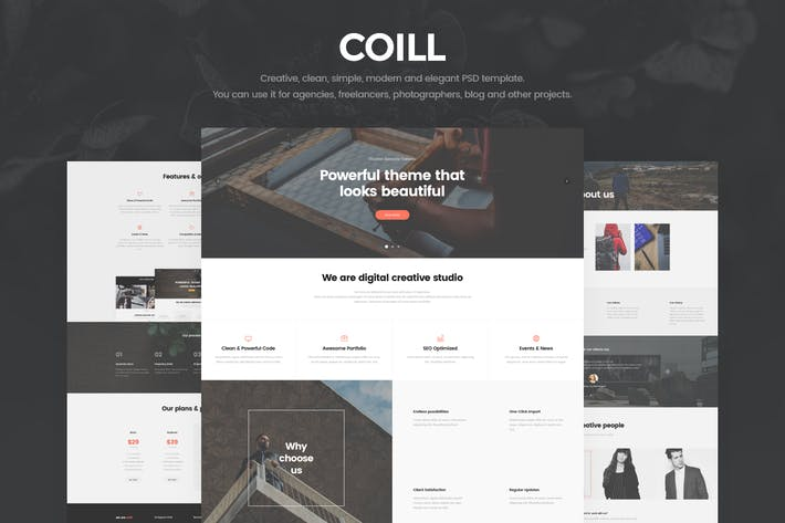 Thumbnail for Coill - Creative Agency PSD Template