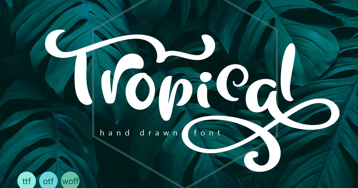 Tropical Summer Font by timonko