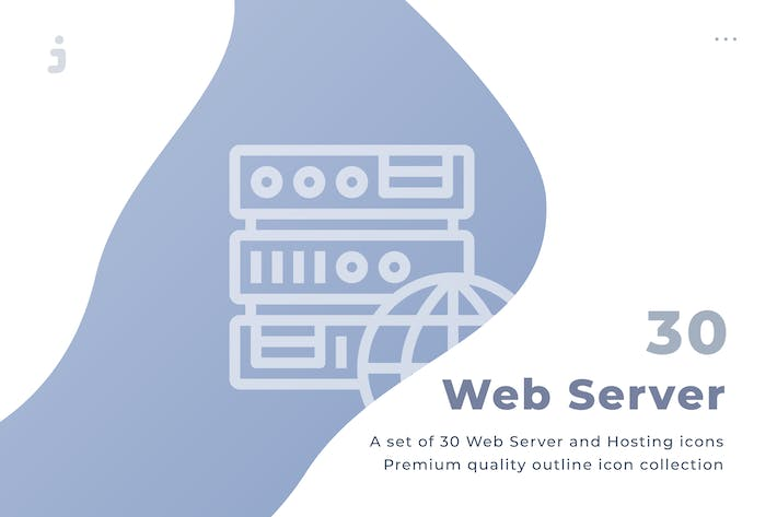 Thumbnail for 30 Web Server and Hosting Icons