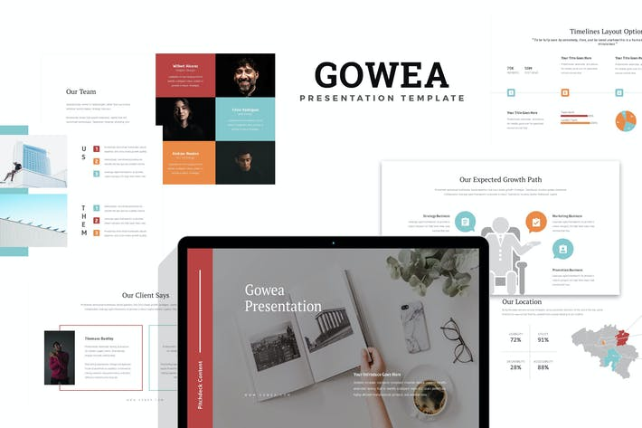 Thumbnail for Gowea : Investor Pitch Deck Keynote