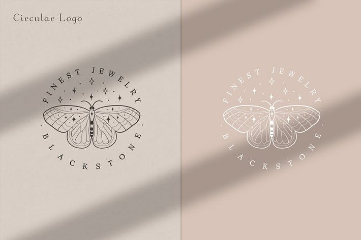 Pre-made Logo Template. Buttefly logo circle 1.