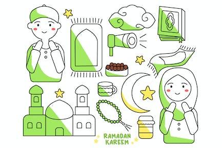 Ramadan Kareem Doodle Personnage