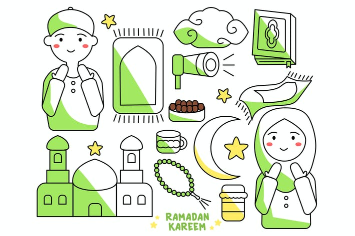 Thumbnail for Ramadan Kareem Doodle Character