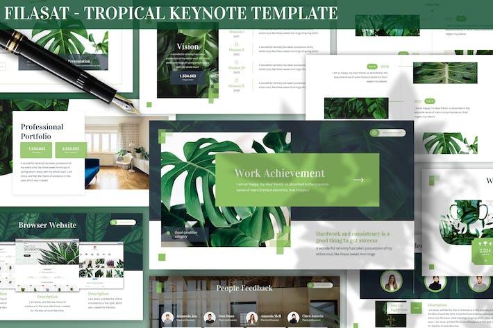 Filasat - Тропический Шаблон Keynote