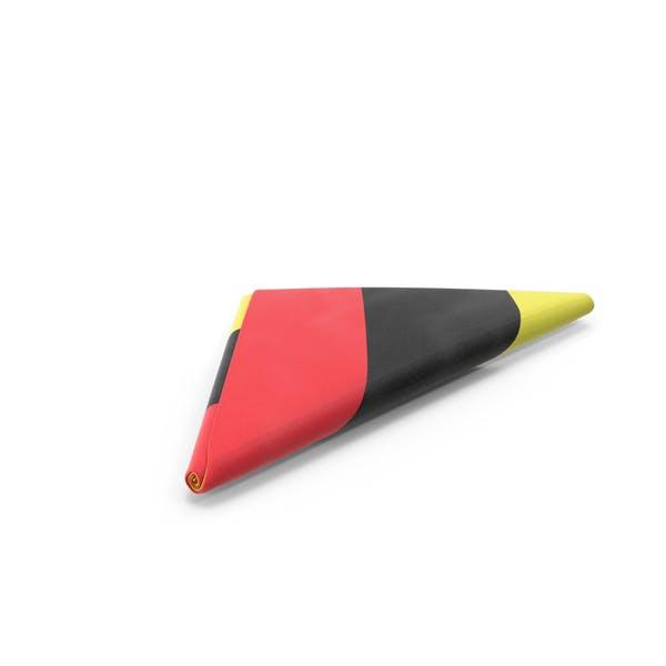 Flag Folded Triangle Belgium