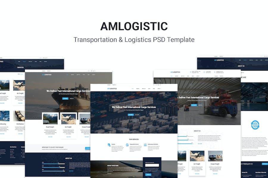 Amlogistic   Transportation & Logistics PSD Templa