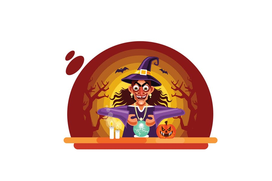 Halloween Fortune Teller with Crystal Ball