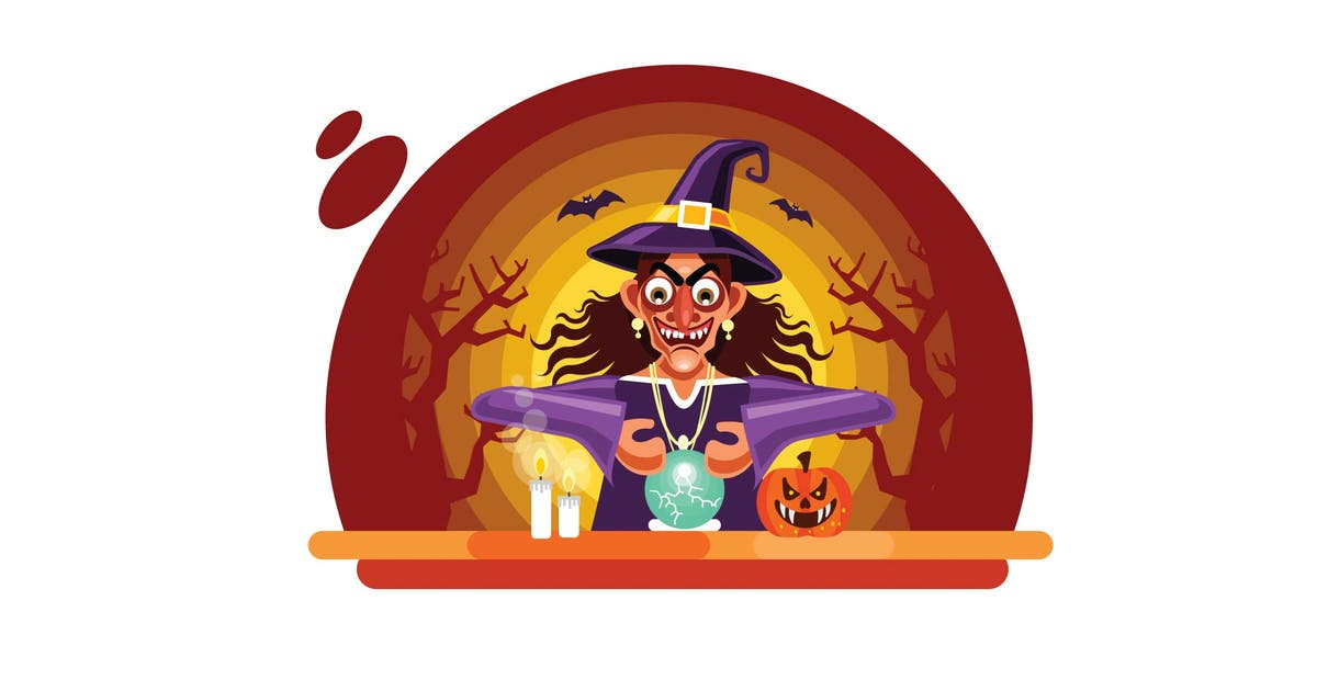 Download Halloween Fortune Teller with Crystal Ball by IanMikraz