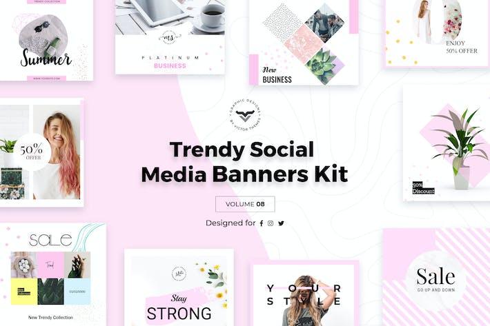 Thumbnail for Trendy Social Media Banners Pack VIII