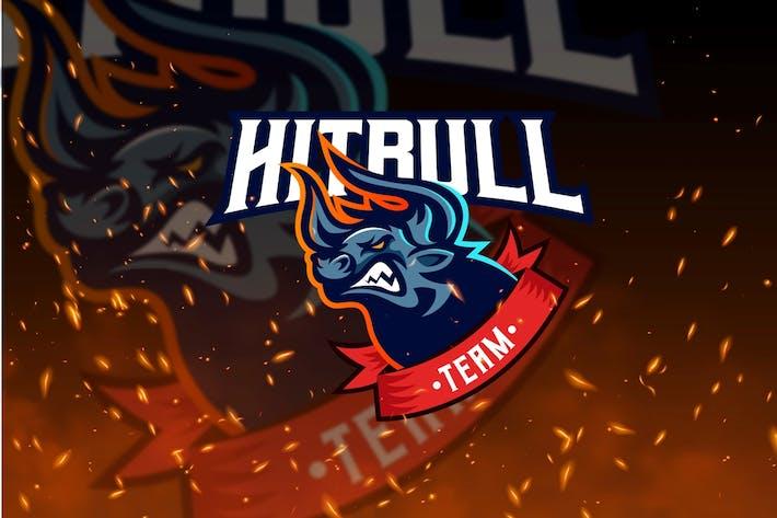Thumbnail for Hitbull Team - Bull Mascot & Esport Logo