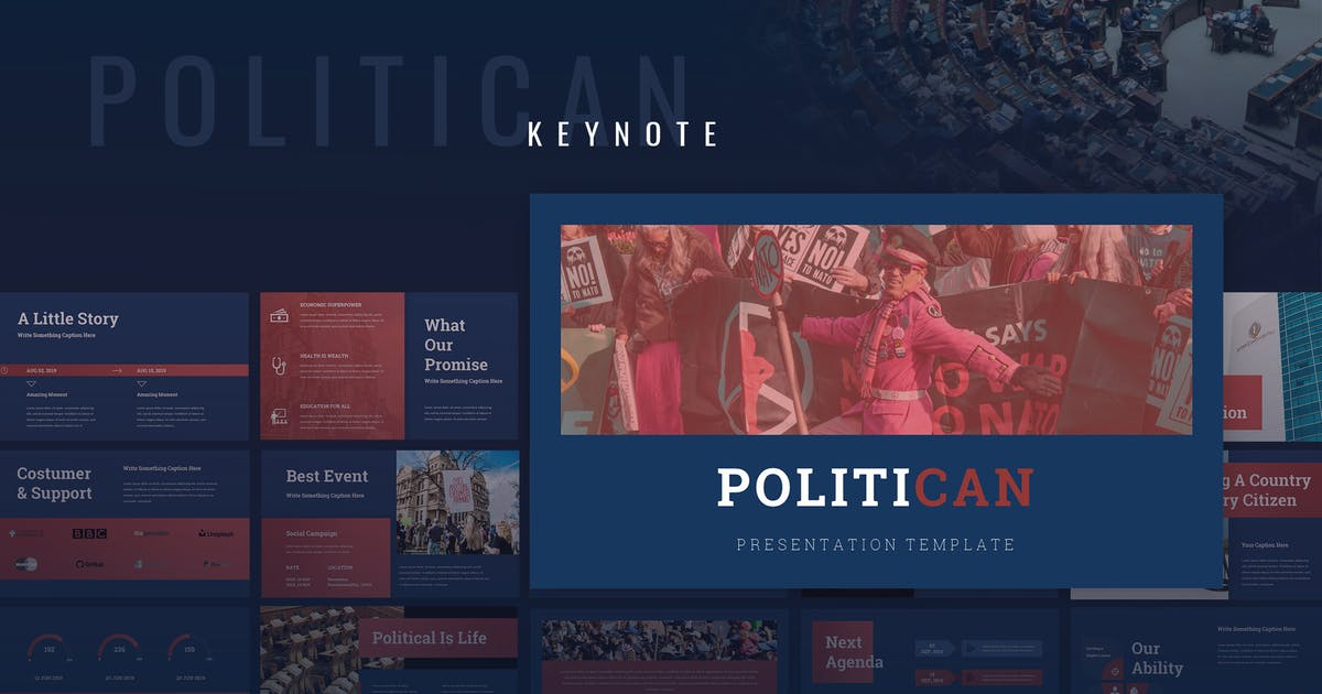Download Politican - Political Campaign Keynote by TMint