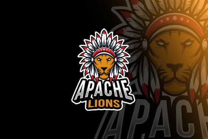 Apache Lion Head Esport Logo Template