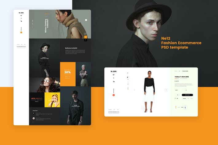 Thumbnail for Ne12 - Fashion Ecommerce PSD template