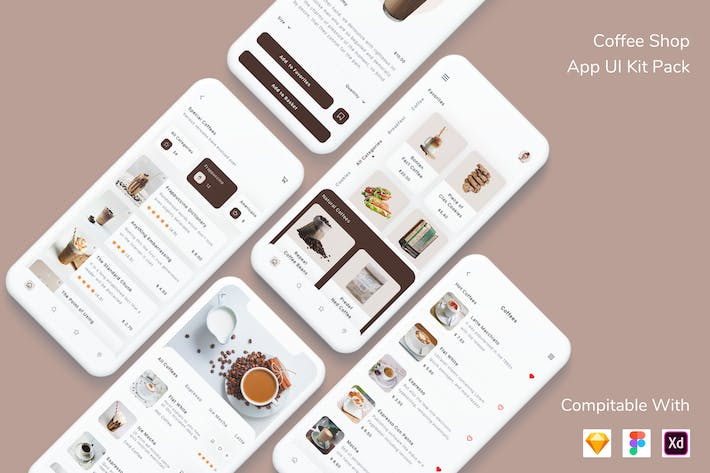 Thumbnail for Coffee Shop App UI Kit Pack