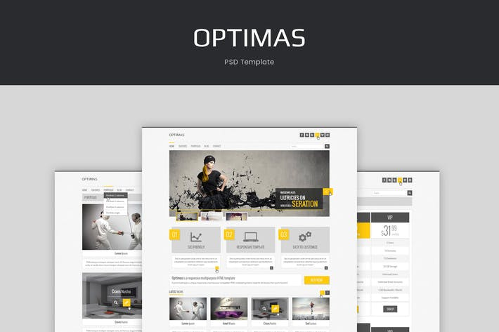 Thumbnail for Optimas - PSD Template