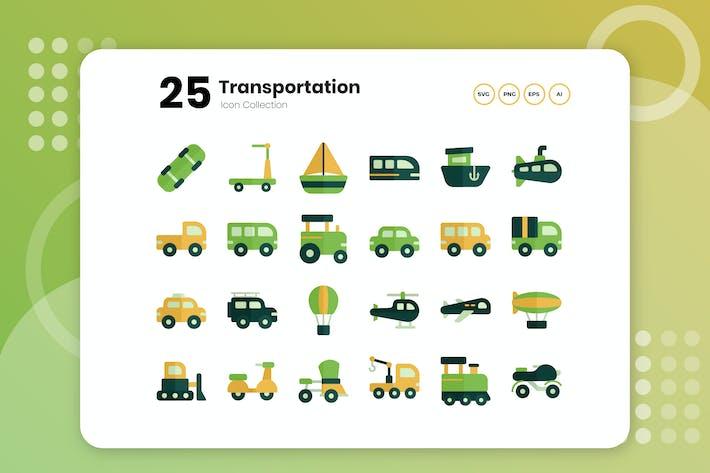 Thumbnail for 25 Transportation Flat Icon