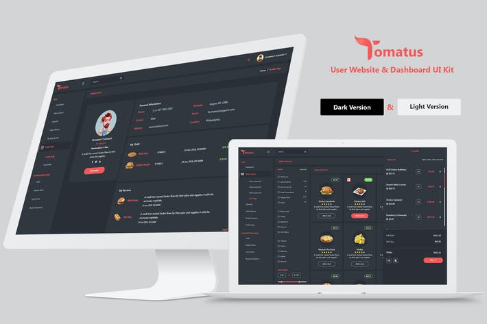 Thumbnail for Tomatus-Restaurant User Website & Dashboard UI Kit