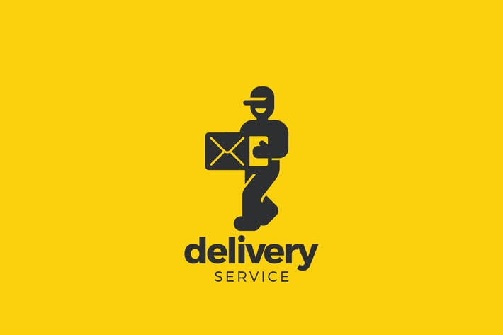 Thumbnail for Logo Walking Man Delivery service company