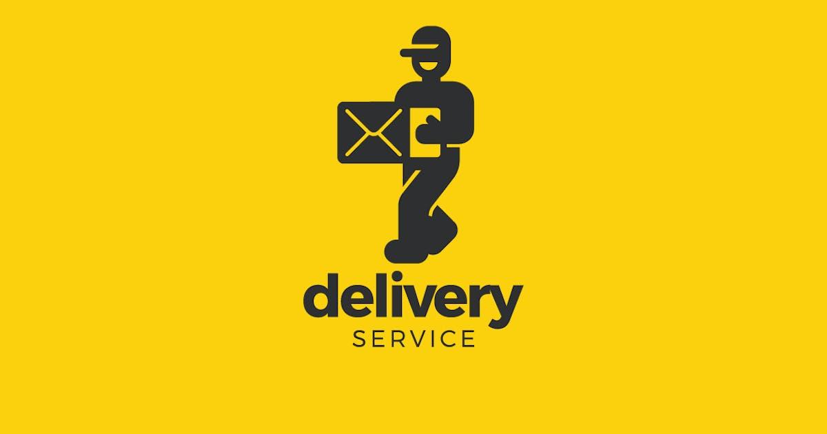 Download Logo Walking Man Delivery service company by Sentavio