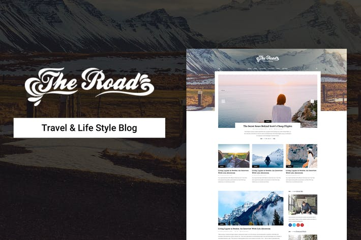 Thumbnail for The Road - Life Style & Travel Blog Psd Template