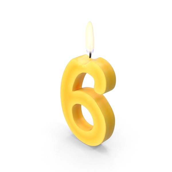 Number Six Candles