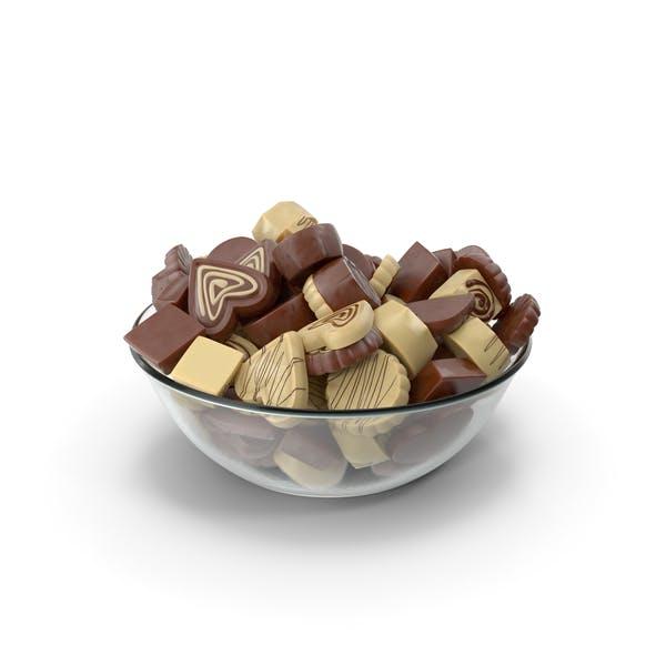 Чаша с трюфельными шоколадными конфетами