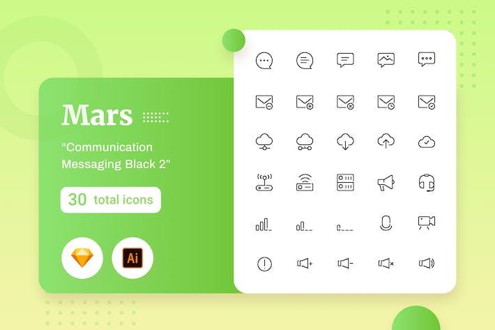 Thumbnail for Marte - Comunicação Mensagens Preto 2