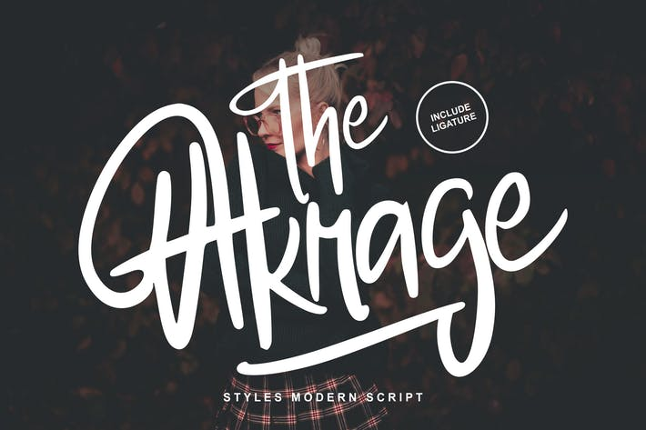 Cover Image For The Akrage | Styles Modern Font