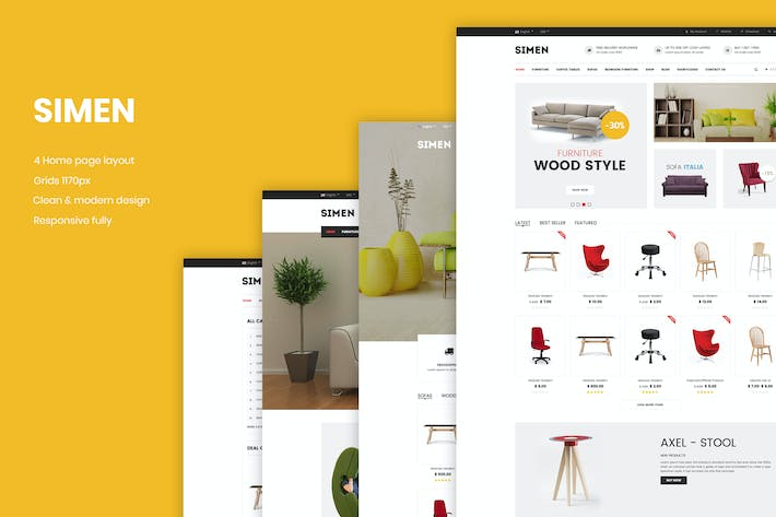 Thumbnail for Simen - Responsive eCommerce Bootstrap Template