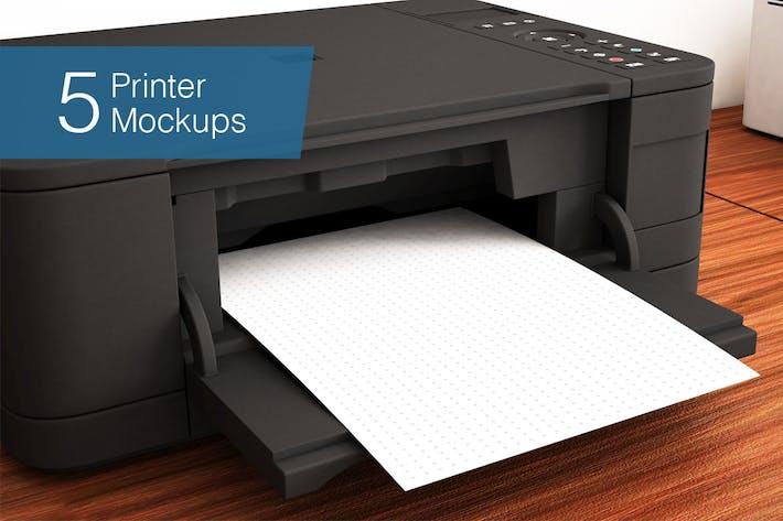 Thumbnail for Printer Mockup - 5 Poses