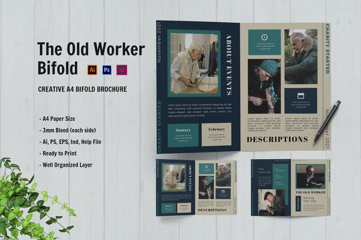 The Old Worker Bifold Brochure