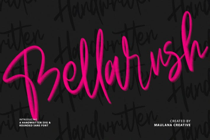 Thumbnail for Bellarush SVG Brush Font Free Sans