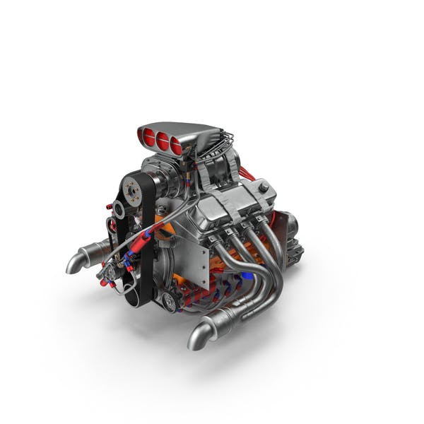 Car Engine with Blower