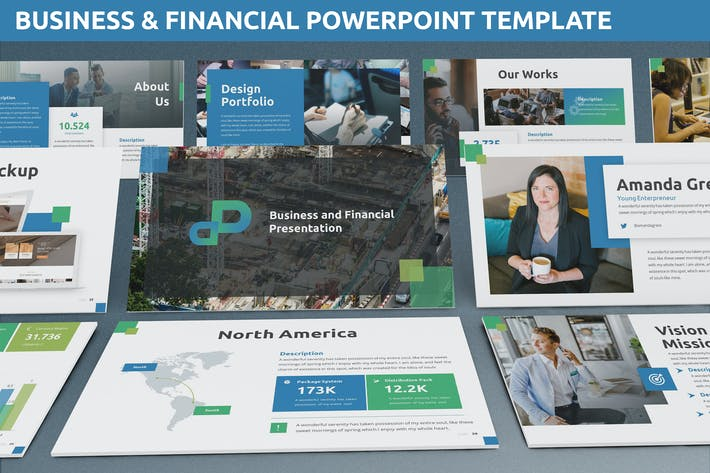 Thumbnail for Business & Financial Powerpoint Template
