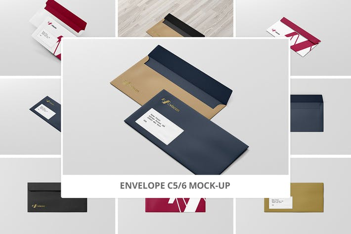 Cover Image For Envelope C5 / 6 Mock-Up