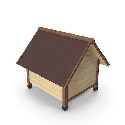 Casa para mascotas de madera clara